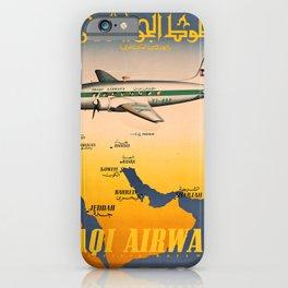 retro iconic Iraqi Airways poster iPhone Case