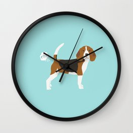 Beagle funny fart dog art cute pet gifts pure breed lovers Wall Clock