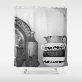 Pottery still life Shower Curtain