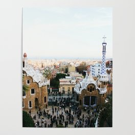 View from Park Güell Poster