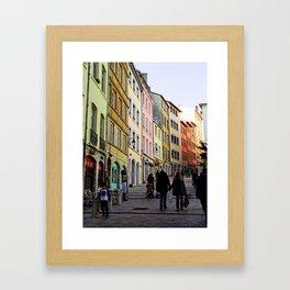 City Walking Lovers Framed Art Print