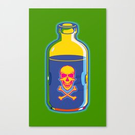 psychedelic poison bottle Canvas Print