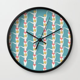 Swimmers in Formation Wall Clock