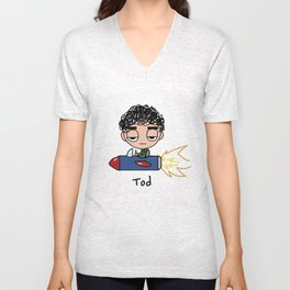 Tod in Rocket Unisex V-Neck