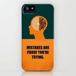 Lab No. 4 -Mistakes are proof you're trying corporate start-up quotes Poster iPhone Case
