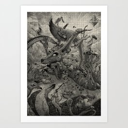 Foxy, goddess of love Art Print