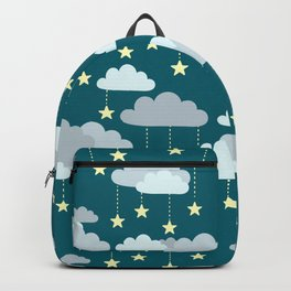 Clouds & Stars Night Sky Pattern Backpack