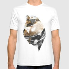 broken creature White MEDIUM Mens Fitted Tee