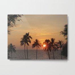 Sunset at Mauna Kea Beach Metal Print