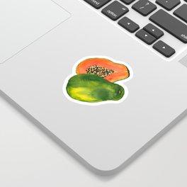 Watercolor Papaya Sticker