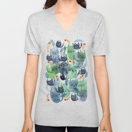 A Quiet Cacophony of Cats Unisex V-Neck