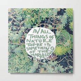 Aristotle: Nature Metal Print