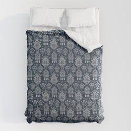 Cuckoo Clocks on Blue Comforters