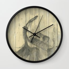 """PIANO. A SERIES OF WORKS """"MUSIC OF THE RAIN"""" Wall Clock"""
