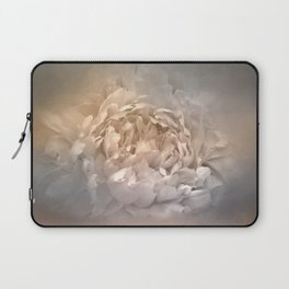 Blushing Silver and Gold Peony - Floral Laptop Sleeve