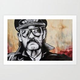 Lemmy borrow a fiver Art Print