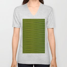 Green Pattern Unisex V-Neck
