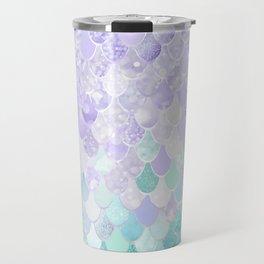 Mermaid Iridescent Purple and Teal Pattern Travel Mug