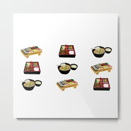 Japanese Food  Metal Print