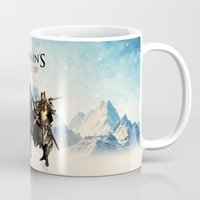 assassins creed Mugs featuring Assassins Creed Attack by bivisual