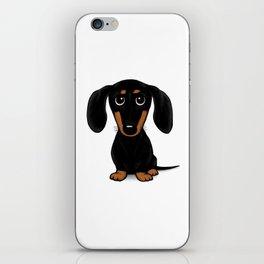 Black and Tan Dachshund | Cute Cartoon Wiener Dog iPhone Skin