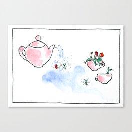 Travelling Postcard #3 - A cup of tea ? Canvas Print