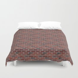 Brick Wall with Mortar - Red White Duvet Cover