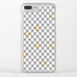 Fish Scale Pattern Design Clear iPhone Case