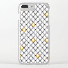 Fish Scale Pattern Design Clear iPhone Case