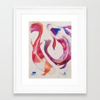 koi Framed Art Prints featuring Koi by Ameliamiller