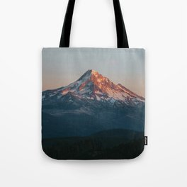 Mount Hood Sunset Tote Bag