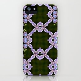 lilac blossom patterns iPhone Case
