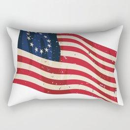 Waving Antique Betsy Ross Flag Rectangular Pillow
