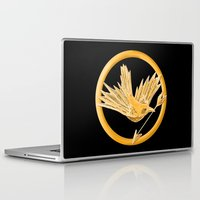 mockingjay Laptop & iPad Skins featuring Mockingjay by AriesNamarie