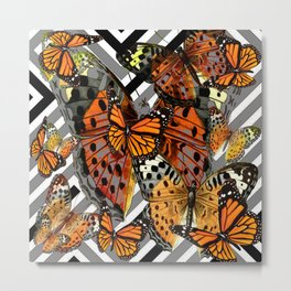 MODERN BUTTERFLY ORANGE-YELLOW  ART Metal Print