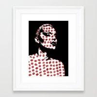 polka dots Framed Art Prints featuring Polka Dots by Andreas Lie