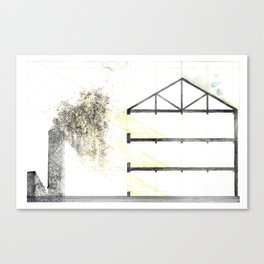 Industrial Building Section Canvas Print