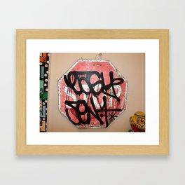 EASY///SEN 4  - GRAFFITI STREET ARTIST     (N.Y.C) REAL LIVE BOMBER'S  Framed Art Print