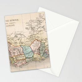 Vintage Map of South Africa (1832) Stationery Cards