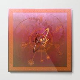 Rubrum anu conjunctio spiritualis et luna symbola cum seges circuli Metal Print