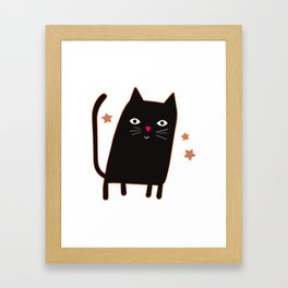 The Wizard Cat Framed Art Print
