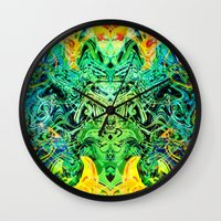 shiva Wall Clocks featuring Shiva by Aleks7