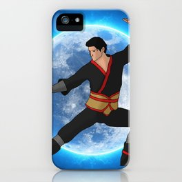 Martial Artist on the Moon iPhone Case