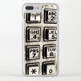 What's Your Number? Clear iPhone Case