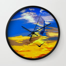 Florida, magical sunset Wall Clock