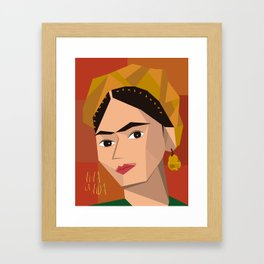 Frida Khalo Cubism Edition 2 Framed Art Print