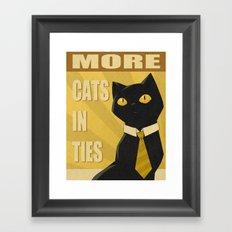 Cats in Ties - PSA Framed Art Print