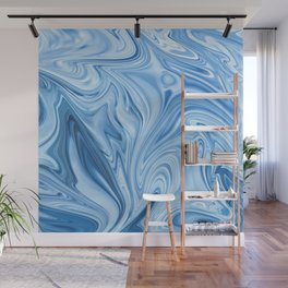Blue Water Silk Marble Wall Mural