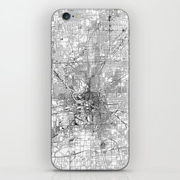 Indianapolis White Map iPhone Skin