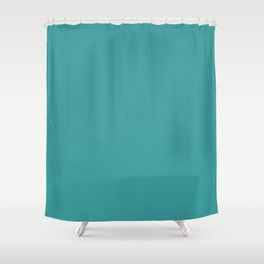 Cheapest Solid Dark Turquoise Color Shower Curtain